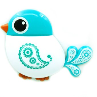 Cute Bird Shaped Plastic Wall Mount Toothbrush Toothpaste Suction Holder Tooth Brush Makeup Brush Hair Comb Shaver Stand Tableware Display Home Bathroom Accessories Organizer Blue