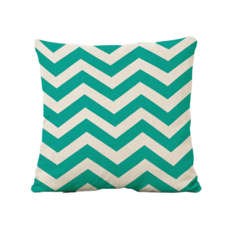 BolehDeals Home Office Sofa Decor Wave Stripe Linen Pillow Case Cushion Cover 45x45cm (Intl)