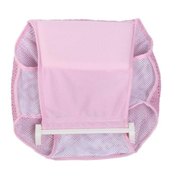 New Infant Bathtub Net Shower Support Baby Toddle Bath Seat Mat Pad Cardle Pink - intl