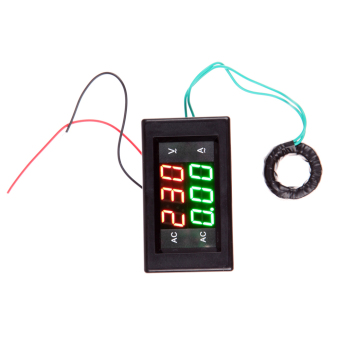 LCD Digital Voltmeter Ammeter AMP Current Voltage Meter Panel Black
