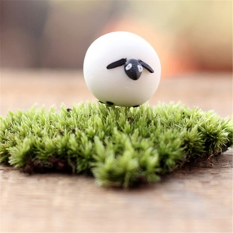 Toy Farm Yard Animals Sheep Ornament Potted Plant Craft Home Garden Decoration Little Sheep - Intl