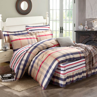 Fashion Four Piece-suit Bedding With Simple Design 200*230cm - intl