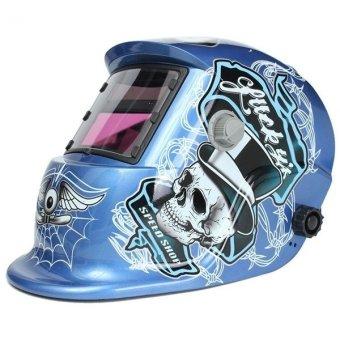 Solar Welder Mask Auto-Darkening Welding Helmet Arc Tig Mig Grinding Spider Web Pattern