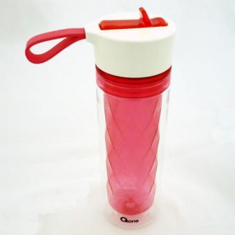 Oxone OX-051 Double Wall Diamond Bottle, Botol Minum Plastik - Red