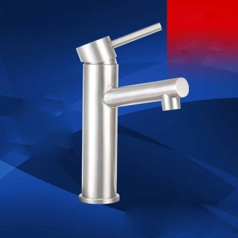 high qualityBasin single hole faucet hot and cold steel vertical taps - intl