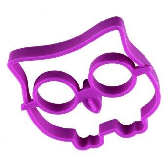 Universal Egg & Pancake Rings Owl Shape / Pencetak Telur - Purple