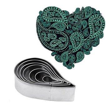 HL Plain Paisley Pattern Cutter Set Fondant Molds For Gum Pastesugarcraft Cake Decorating Stainless Steel,7Pcs - intl