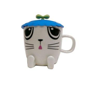 Harga SendokTea Anime Animal Cup - Blue Cat
