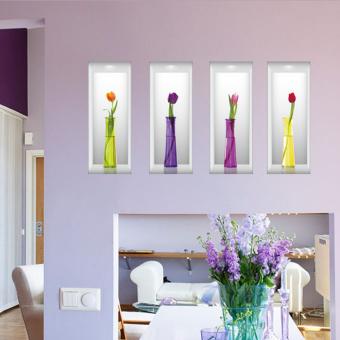 Membangun 3d Simulasi Gaya Vas Bunga Bunga Dinding Stiker Dinding Rumah Pvc Paper House Dekorasi Living Room Wallpaper Kamar Tidur Gambar Seni Untuk Anak Remaja Dewasa Senior Bayi Baik Lazaid Cheap