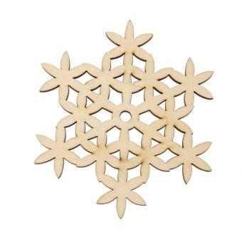 Wooden Carved Snowflake Mug Mat Decor #2