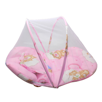 HKS Baby Mosquito Insect Cradle Bed Netting Canopy Cushion Mattress for Infant