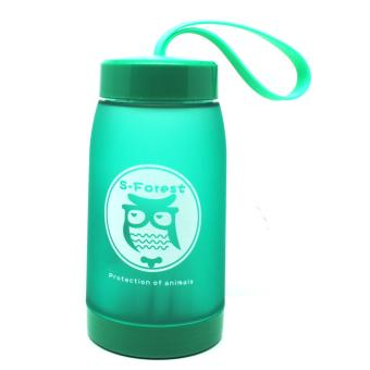 Universal Botol Minum Cute Owl BPA Free dengan Saringan Teh 320ml - Green
