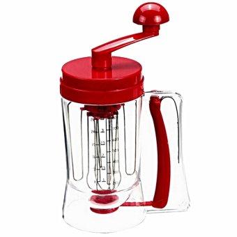 Universal Manual Pancake Machine - Alat Pengaduk Adonan Kue - Merah