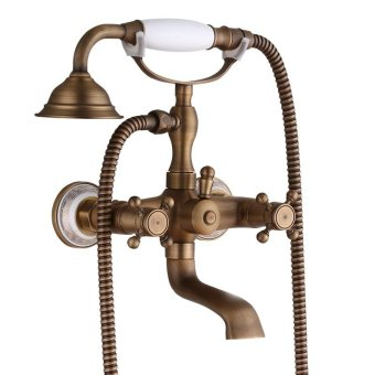 Bath Faucet hot and cold shower sprinkler hose kit wall mounted antique faucets, wall mounted antique faucets - intl