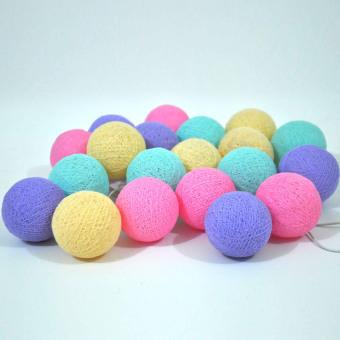Lightcraft Lampu Hias Cotton Ball Light - Pastel Tone