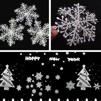 Comebuy88 30pcs White Pretty Snowflake Ornaments Christmas Tree Decorations Home- - intl