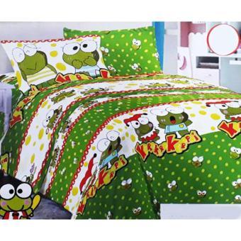 Alona Ellenov kerokeroppi Bed Cover Set 200 x 200 x 25 cm - Hijau