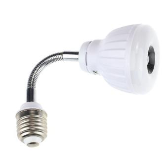 UJS 110V 220V E27 5W LED PIR Infrared Sensor Motion Detector Light Lamp PW White
