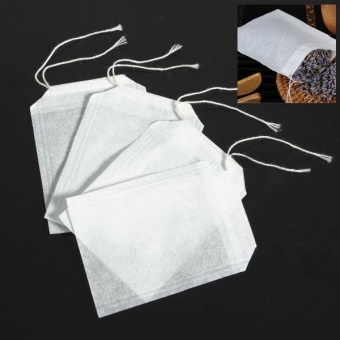 100 pcs Empty Teabags String Heat Seal Filter Paper Herb Loose Tea Bags - - intl