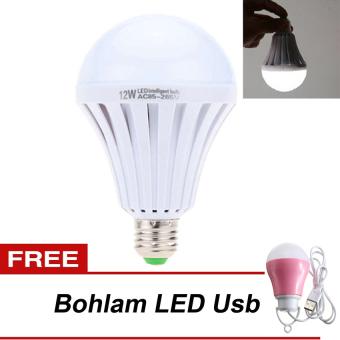 LED Autolamps Bohlam Emergency 15Watt + LED Bohlam Lampu USB 5 Watt - Pink