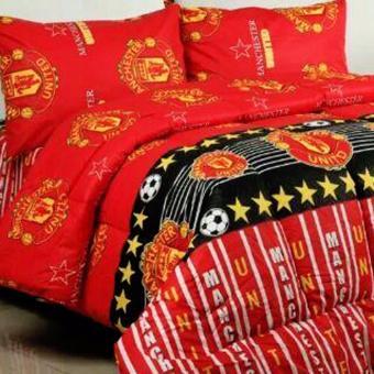 Alona Ellenov Katun MandUtd Bed Cover Set Katun – Merah
