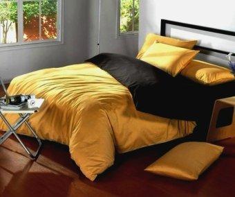 Jaxine Bed Cover Katun Prada Tanpa Sprei - Honey Black