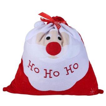 toobony Christmas Gift Bag Santa Claus Xmas Candy Gift Bag Velvet Drawstring Xmas Party Decoration,Red - intl