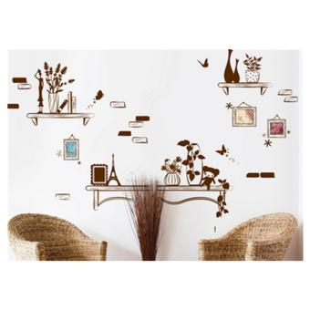 Harga Creative Frame Wall Stickers Living Room Sofas Background Wallpaper Self-Adhesive Walls Decorations-