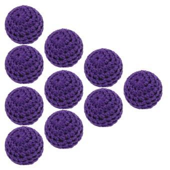 10Pcs Handmade Wool Pom-pom Balls Assortment DIY Necklace Bracelet Accessory Home Office Festival Party Craft Decoration Purple - intl