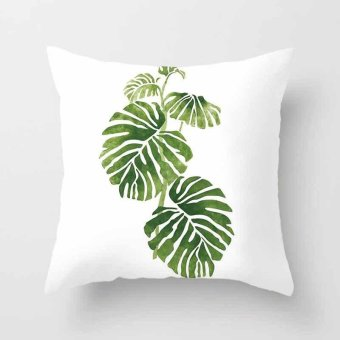 Vintage Flower Tropical Leaves Pillow Case Cushion Cover Home Decor #11 - intl