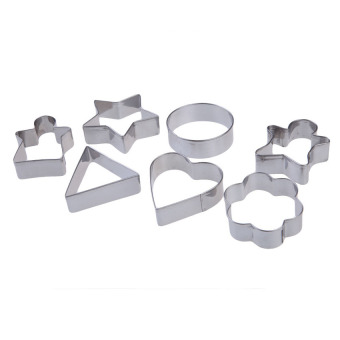 HL 7Pcs Differ Geometric Figure Cake Biscuit Pastry Cookies Cuttermold Mould - intl