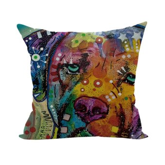 Colorful Animal Pillow Case Throw Pillow Cases Cushion Cover Home D??cor Dog 8