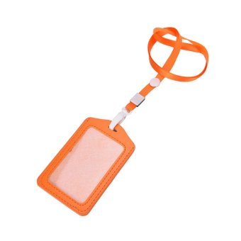 Recoil Key Ring Retractable Pull Chain with Belt Clip ID Holder Badge Reel Strap Orange - intl