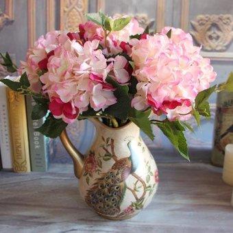 Harga Rose Autumn Vintage Artificial Peony Flower Floral Room Hydrangea Wedding Decor - intl