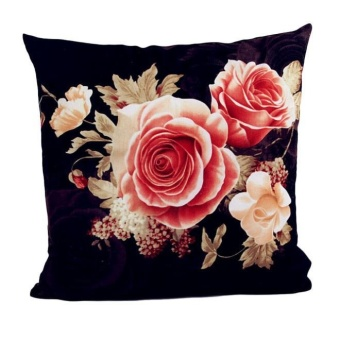 Printing Dyeing Peony Sofa Bed Home Decor Pillow Case Cushion Cover - intl
