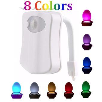Harga 8warna baterai dioperasikan Body Sensor gerak PIR Sensor cahaya Toilet kursi Toilet mangkuk Toilet gerak