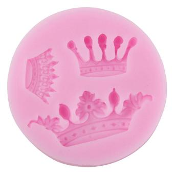 hatai Crown Shape Party Silicone Cake Molds Decoration Fondant Cookie Baking Mold,Pink