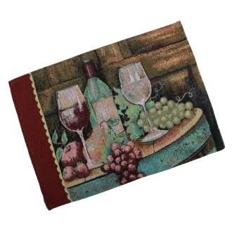 ooplm American Rustic Paint European Western Style Dinner Table Cotton Linen Placemat Coaster
