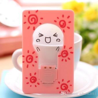 Portable Unplugged Card Lamp Night Light / Lampu Kartu - Pink