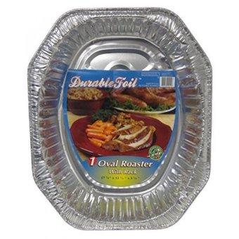 GPL/ Durable Foil Oval Aluminum Roasting Pan, X-Large, 18-1/2