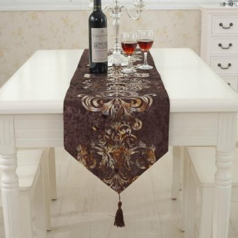 Harga Classic Modern Cotton Linen Table Table Runner color:#6 size:33*