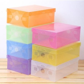 Harga Kotak Transparan - 3 Buah Kotak Sepatu Transparant - Multicolor