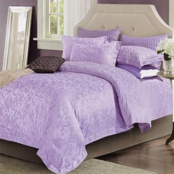 ... Harga Sleep Buddy Set Sprei dan Bed Cover Classic Purple Sutra Tencel