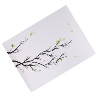 MagiDeal Personalized Wedding Guest Book Fingerprint Tree Branch Guestbook Gift - intl