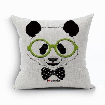 Yazilind Cute panda pattern decorative pillowcase room sofa home 45*45CM/17.55*17.55 inch
