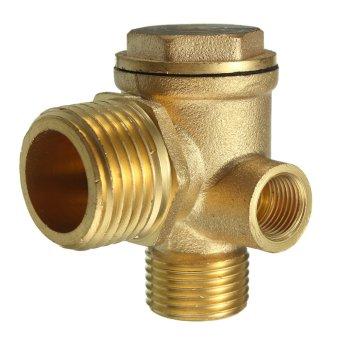 New 3 Port Brass Central Pneumatic 40400 Air Compressor Check Valve Thread 90deg - intl