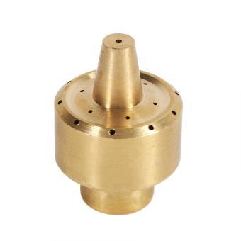 Brass Column Garden Pond Fountain Spray Head Gold (1/4