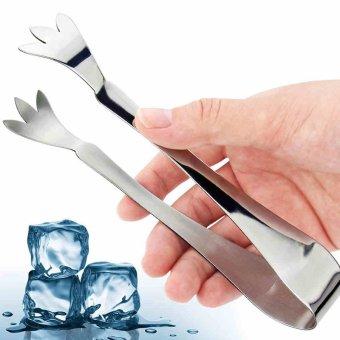 1pcs Stainless steel barbecue utensil Multifunction tool ice Cubes skewers vegetables Baking Kitchen Tongs - intl