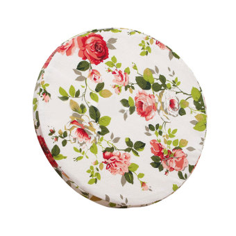 BolehDeals Car Chair Bed Couch Throw Pillow Round Cushion Seat Pad Home Decor-Red Rose
