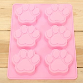 GAKTAI 1PC 3D Silicone 6-Cat Paw Ice Cube Chocolate Cake Cookie Cupcake Soap Fondant Mold Sugarcraft Mould Baking Tools